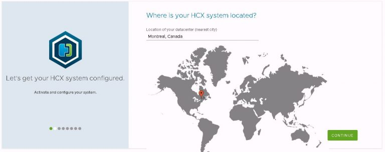 Location of the HCX destination cluster.