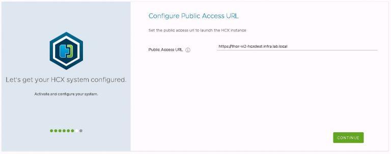 HCX public access URL